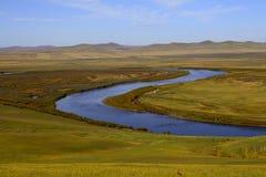 Wewnętrzny Mongolia obszar trawiasty Fotografia Royalty Free