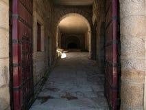Wewnętrzny Napoleoński fort, kasztel Sao Joao/, Foz robimy Douro, Porto, Portugalia zdjęcia stock