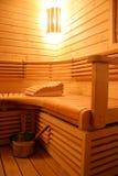 wewnętrzny nowożytny sauna Fotografia Stock