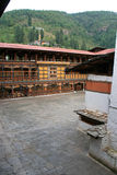 Wewnętrzny podwórze dzong Paro, Bhutan, opuszczał Obraz Stock