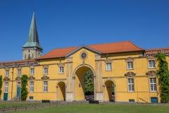 Wewnętrzny podwórze Grodowy Osnabruck obraz stock