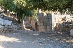 Wewnętrzny podwórze lokalizować w Górnym Galilee w północnym Izrael na granicie z Liban nemroda forteca obrazy stock