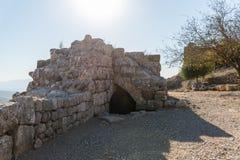 Wewnętrzny podwórze lokalizować w Górnym Galilee w północnym Izrael na granicie z Liban nemroda forteca fotografia stock