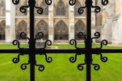 Wewnętrzny podwórze opactwo abbey obrazy stock