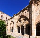 Wewnętrzny podwórze Tarragona katedra obraz royalty free