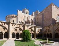 Wewnętrzny podwórze Tarragona katedra fotografia royalty free