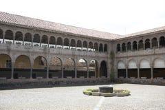 Wewnętrzny podwórze W Cusco zdjęcie stock