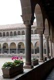 Wewnętrzny podwórze W Cusco zdjęcie royalty free