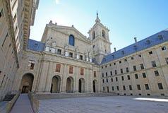 Wewnętrzny podwórzowy Patio De Los Reyes w El Escorial, Hiszpania zdjęcia royalty free
