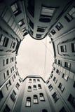Wewnętrzny podwórzowy wnętrze stary dom w St Petersburg Obraz Royalty Free