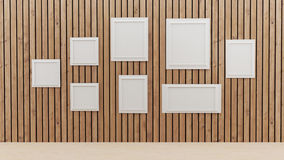 Wewnętrzny pokój z fotografii ramy projektem w 3D ilustraci royalty ilustracja