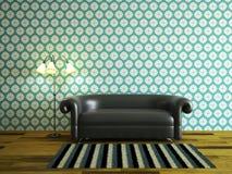 Wewnętrzny pokój z kanapą Obrazy Royalty Free