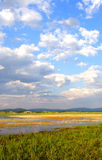 wewnętrzny prerii mongolian niebo zdjęcia stock