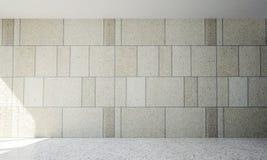 Wewnętrzny projekt żywy pokoju i betonu wzór izoluje tło Zdjęcie Stock