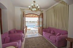 Wewnętrzny projekt luksusowego mieszkania żywy pokój Zdjęcie Stock
