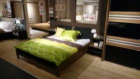 Wewnętrzny projekt nowożytna sypialnia Obrazy Royalty Free