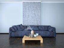 Wewnętrzny projekt pokój z kanapą Zdjęcie Royalty Free