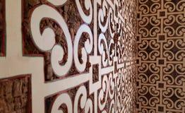 Wewnętrzny projekt wśrodku małej Portugalskiej chałupy obrazy royalty free