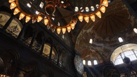 Wewnętrzny projekt wnętrze stary meczet Hagia Sophia zbiory