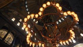 Wewnętrzny projekt wnętrze stary meczet Hagia Sophia zdjęcie wideo