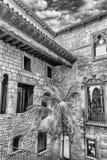 Wewnętrzny przyklasztorny Museu Picasso i podwórze, Barcelona, Catalo obrazy stock
