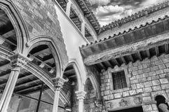 Wewnętrzny przyklasztorny Museu Picasso i podwórze, Barcelona, Catalo obraz stock