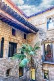 Wewnętrzny przyklasztorny Museu Picasso i podwórze, Barcelona, Catalo zdjęcie stock