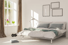 Wewnętrzny rendering łóżkowy pokój Obraz Royalty Free