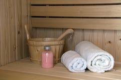 wewnętrzny sauna obrazy stock