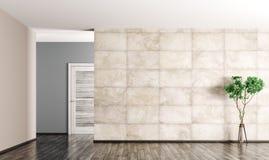 Wewnętrzny tło pusty pokoju 3d rendering ilustracja wektor