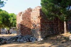 Wewnętrzny terytorium Alanya kasztel blisko obserwacja pokładu Alanya, Turcja Obrazy Royalty Free
