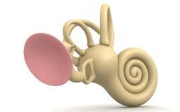 Wewnętrzny ucho royalty ilustracja