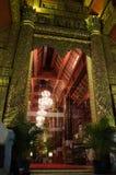 Wewnętrzny Wat Bupharam przy nocą Zdjęcie Royalty Free
