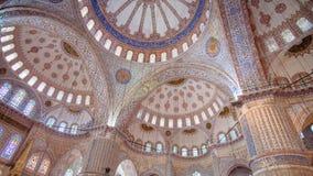 Wewnętrzny widok Błękitny Meczetowy sułtanu Ahmed meczet, Istanbuł Zdjęcia Stock