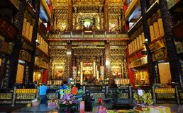 Wewnętrzny widok Fu-An świątynia Obrazy Royalty Free