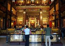 Wewnętrzny widok Fu-An świątynia Fotografia Royalty Free