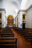 Wewnętrzny widok kościół Nasz dama filar Zdjęcie Stock