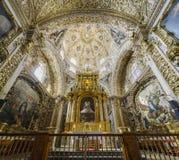 Wewnętrzny widok kościół Santo Domingo Fotografia Stock