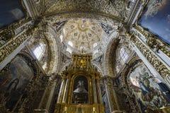 Wewnętrzny widok kościół Santo Domingo Obraz Stock