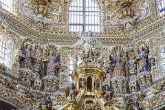 Wewnętrzny widok kościół Santo Domingo Obraz Royalty Free