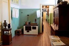 Wewnętrzny widok kuchnia Anna Akhmatova mieszkanie i lobby obrazy royalty free