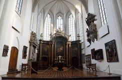 Wewnętrzny widok Marienkirche kościół w Berlin, Niemcy obrazy stock