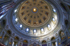 Wewnętrzny widok Marmurowy kościół (Frederik kościół) Obraz Royalty Free