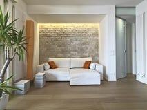 Wewnętrzny widok nowożytny żywy pokój Fotografia Royalty Free