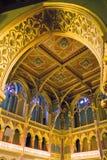 Wewnętrzny widok parlamentu budynek w Budapest obrazy royalty free