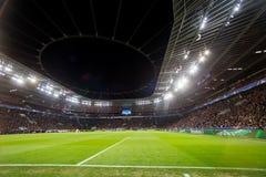 Wewnętrzny widok pełny BayArena stadium podczas UEFA czempionu Zdjęcia Royalty Free
