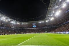 Wewnętrzny widok pełny BayArena stadium podczas UEFA czempionu Fotografia Stock