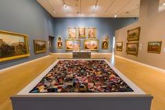 Wewnętrzny widok piękny Crocker muzeum sztuki Zdjęcia Stock