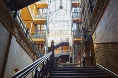 Wewnętrzny widok sławny i dziejowy Bradbury budynek zdjęcia stock