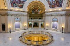 Wewnętrzny widok stanu Capitol Oklahoma w Oklahoma City, OK obraz royalty free